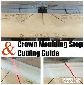 Crown Moulding Stop and Cutting Guide