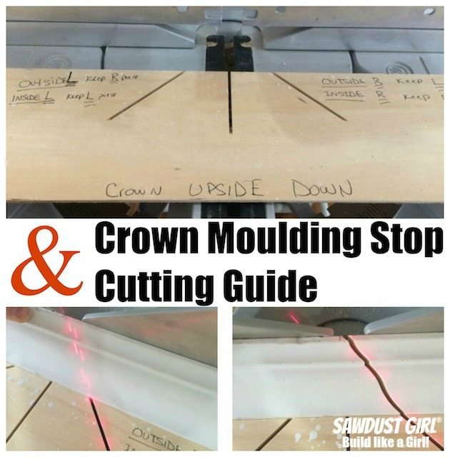 Crown Moulding Stop And Cutting Guide Sawdust Girl 174