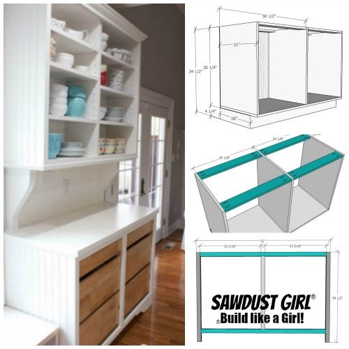 Free And Easy Plans To Build A China Hutch Base From Https Sawdust