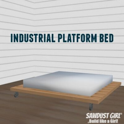 Industrial Platform Bed – Woodworking Plans