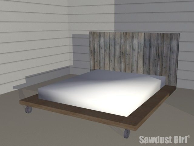 Fancy Free DIY Platform Bed Plans