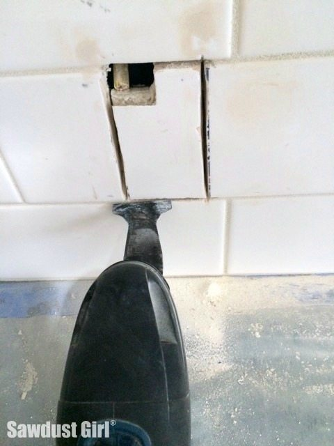 How to cut a hole in tile.