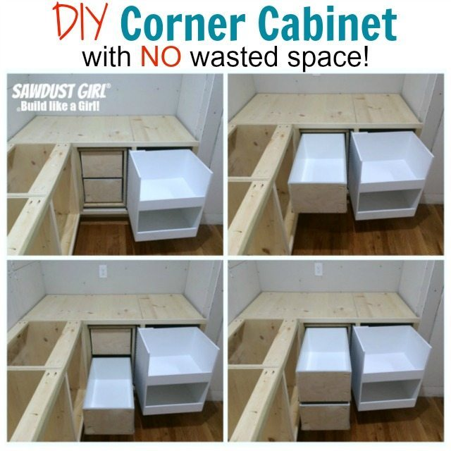 How To Build A Corner Kitchen Cabinet DIY corner cabiwith NO wasted space!   Sawdust Girl®