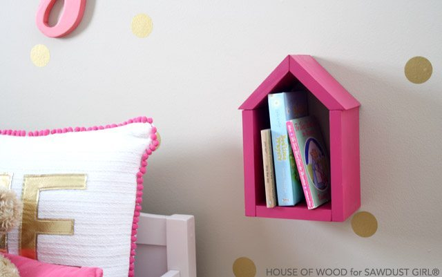 DIY house shelf