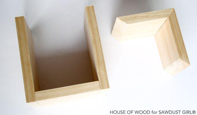 How to make homemade shelves.