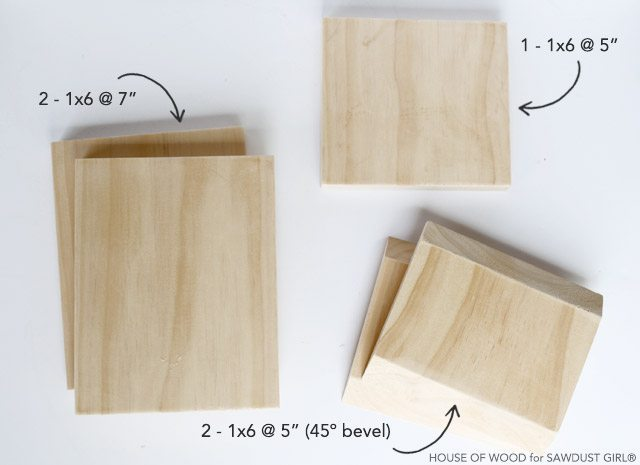 How to build a shelf out of wood.