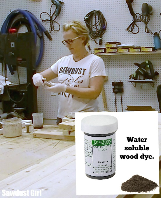 How to finish wood with powdered, water soluble wood dye.