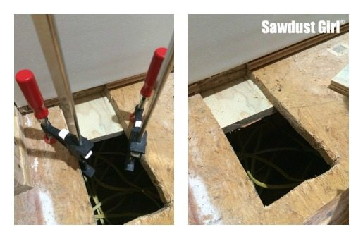 How to patch subfloor