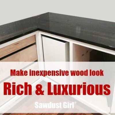 Make Inexpensive Wood look Rich and Luxurious!