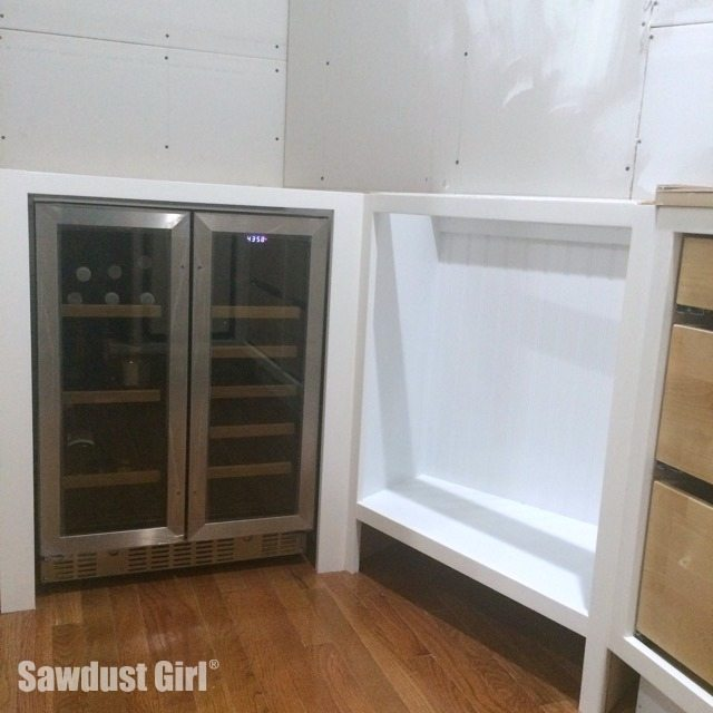 Refrigerator In Cabinet: Built-in Wine And Beverage Refrigerator Cabinet