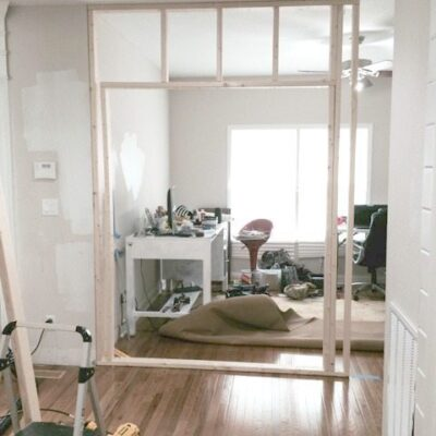 Framing a Pocket Door Wall – for my new office!