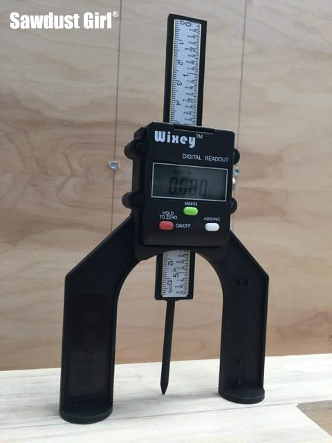 Measuring depth and height made easy with a digital guage