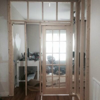 Office Progress – pocket door