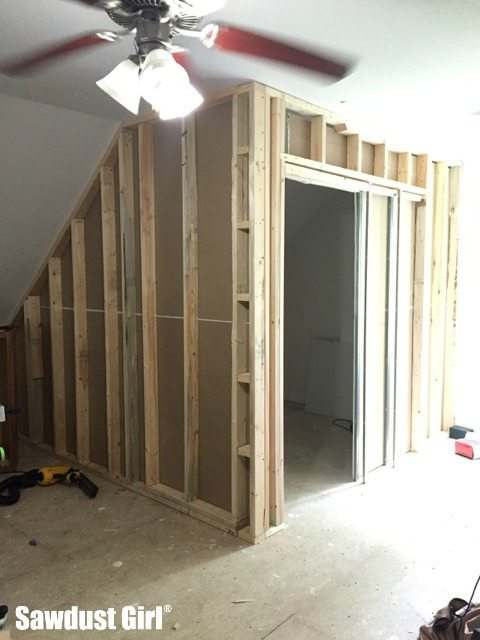 how to install a pocket door frame sawdust girl. Black Bedroom Furniture Sets. Home Design Ideas