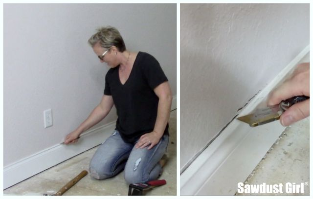 Easily remove baseboards without damaging your walls