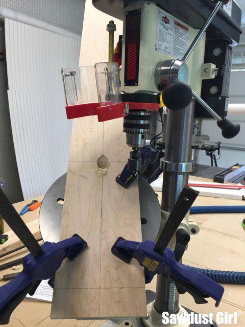 Building a vertical wine rack