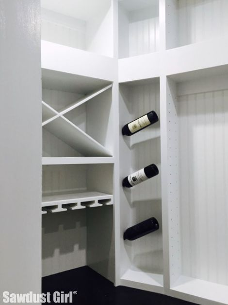 vertical wine rack