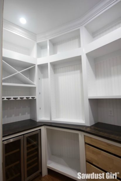White kitchen wood countertops