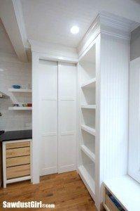 Hidden Entrance to Pantry with Pocket Doors