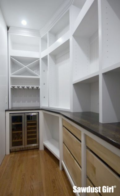Pantry with Crown Moulding