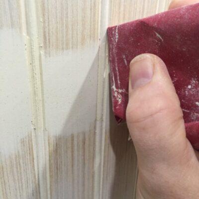 sanding grooves in beadboard