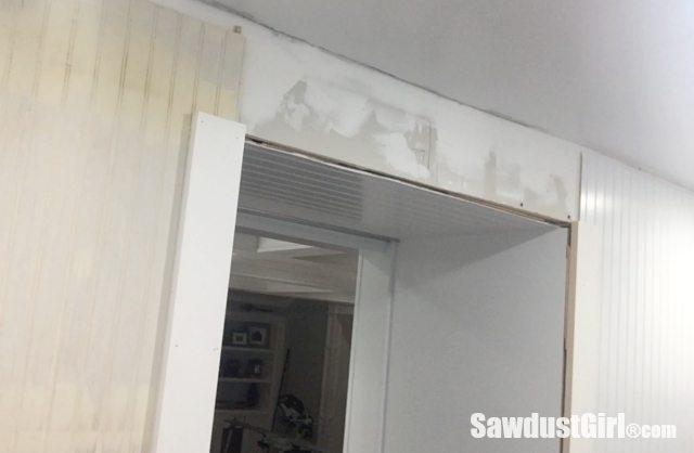 How to DIY a decorative door trim.