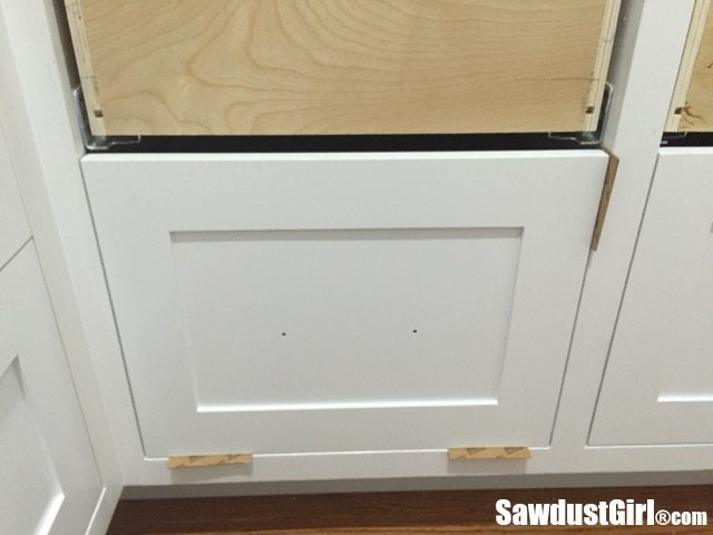 How to install false drawer fronts on cabinet drawers