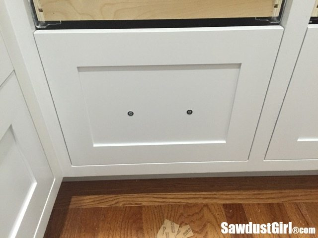 Easiest way to install cabinet drawer fronts