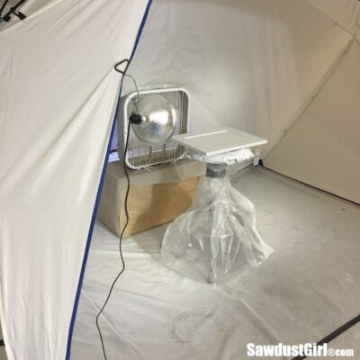 Spray Shelter for Painting