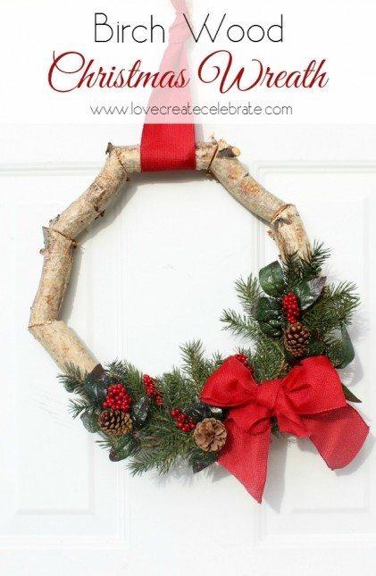 Birch Christmas Wreath