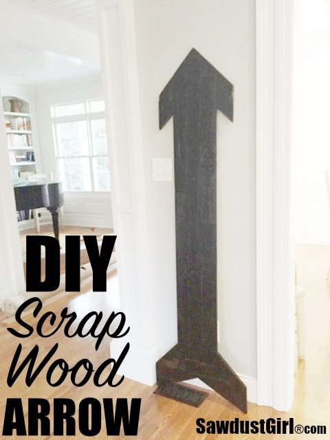 DIY Scrap Wood Arrow - super sized!