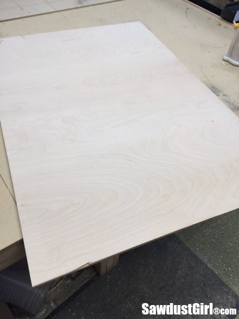 "1/4"" plywood for base of sliding cabinet doors"