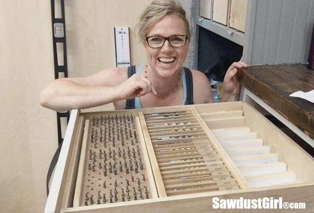 Drill Bit Drawer Storage Organizer