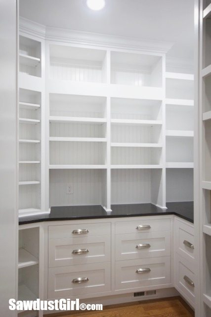 Walk In Pantry Cabinets And Countertop