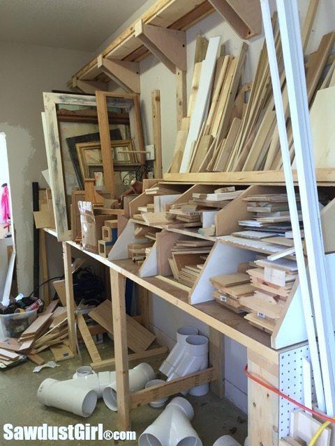 Lumber Sorter and Scrap Wood Pile