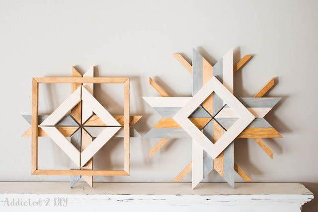 Scrap wood Snowflakes