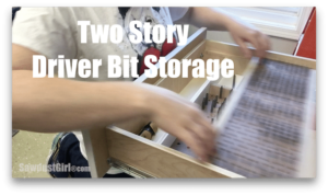 Two Tier Drawer Storage and Organization for Driver Bits
