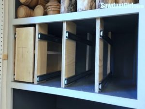 Add Vertical Storage Drawers to Existing Cabinets