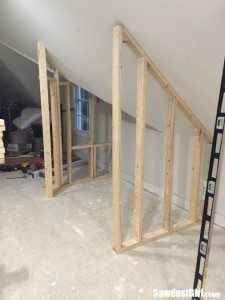 Building a closet around wonky angled ceilings