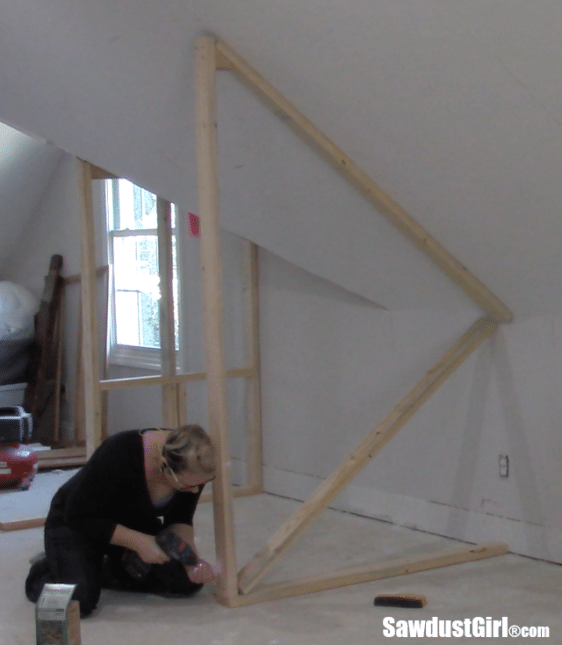 Building A Closet Around Wonky Angled Ceilings Sawdust Girl 174