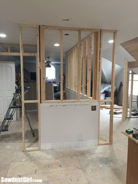Extending stair walls