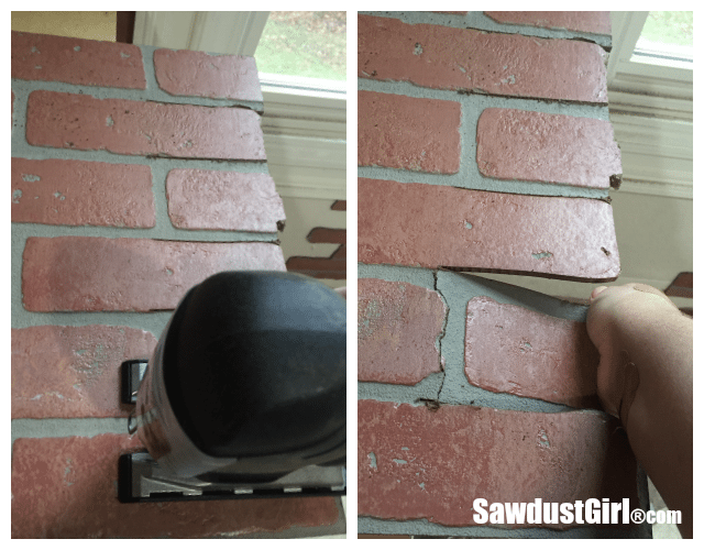 Faux Brick And Plaster Wall With Faux Brick Panels