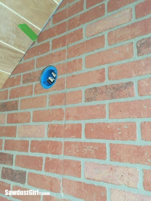 Faux brick and plaster wall sawdust girl for Faux brick edging