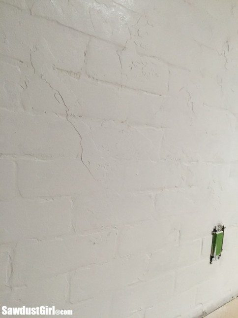 Very best Faux Brick and Plaster Wall with Faux Brick Panels - Sawdust Girl® CQ59