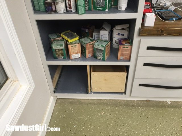 Drawers for hanging file folders.
