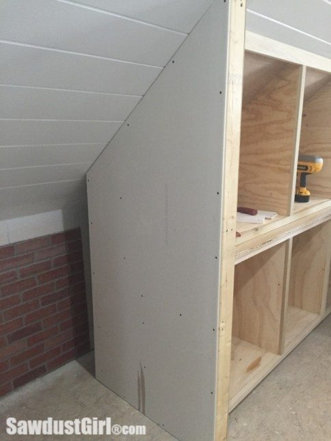 Building a Side Wall for End of Cabinets