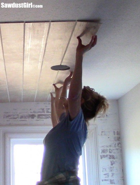 V Groove Plywood Plank Ceiling Sawdust Girl 174