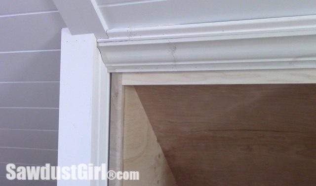 Crown Moulding on Angled Ceilings Caulk
