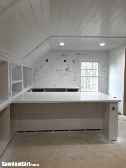White Painted Countertops and Cabinets