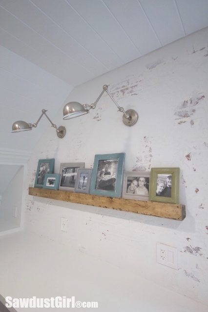 DIY Faux Beam Picture Ledge